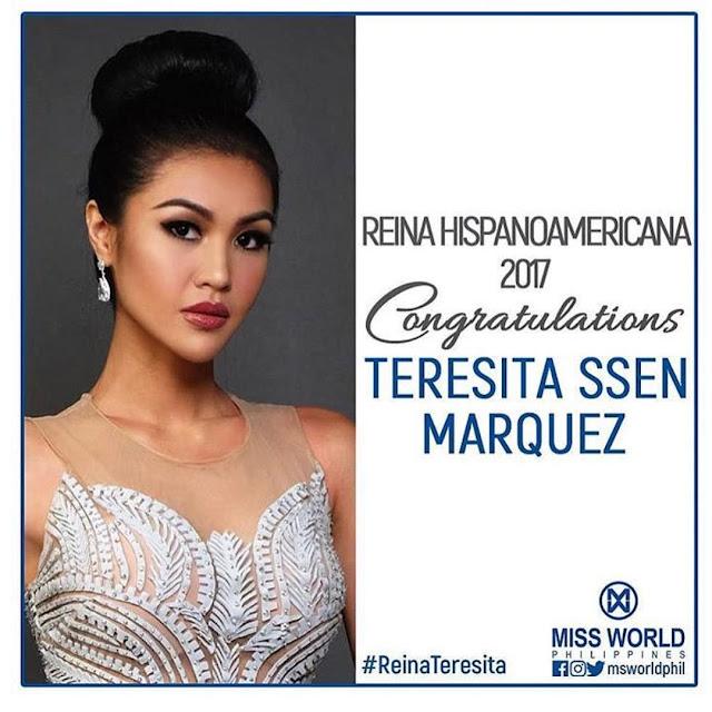 """Teresita Ssen """"Winwyn"""" Marquez Reina Hispanoamericana 2017 Winner"""