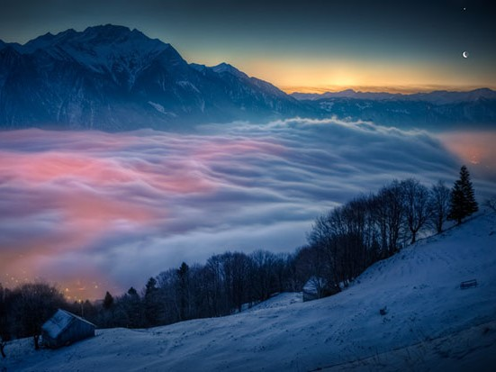 Nebbia Alpi Svizzere