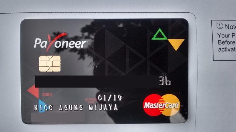 Kartu Payoneer baru