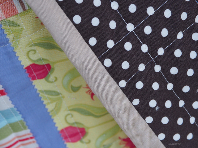 Polka dot backed lap quilt ~ Threading My Way