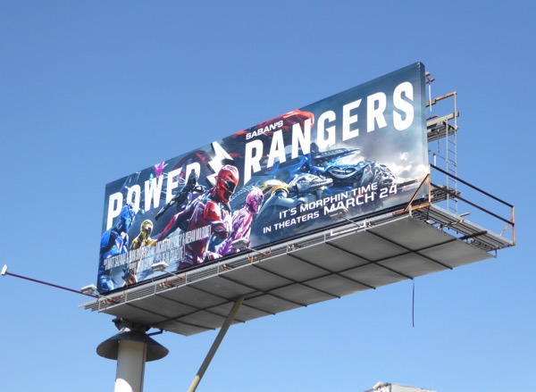 Power Rangers 2017 movie billboard