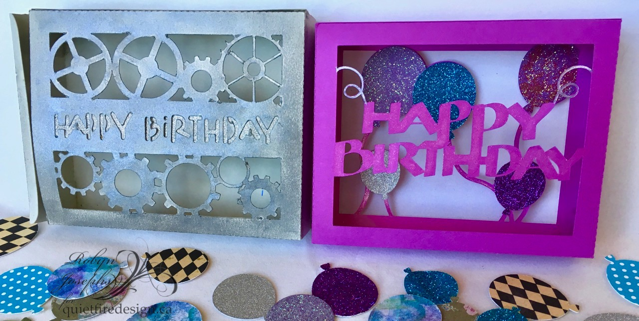 On The Mat Happy Birthday Balloon Box Card