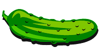 hot cucumber clipart