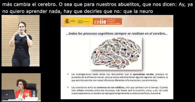 Imagen de la jornada con subtitulado y lengua de signos española