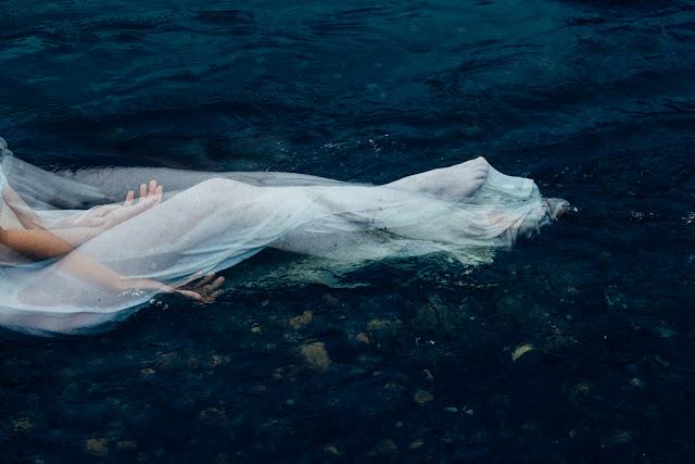 White Dress Underwater Double Exposure