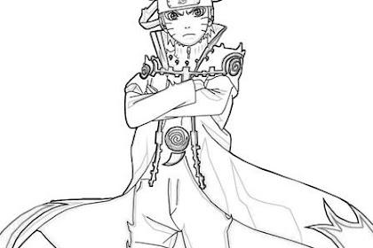 Gambar Mewarnai Naruto Hokage