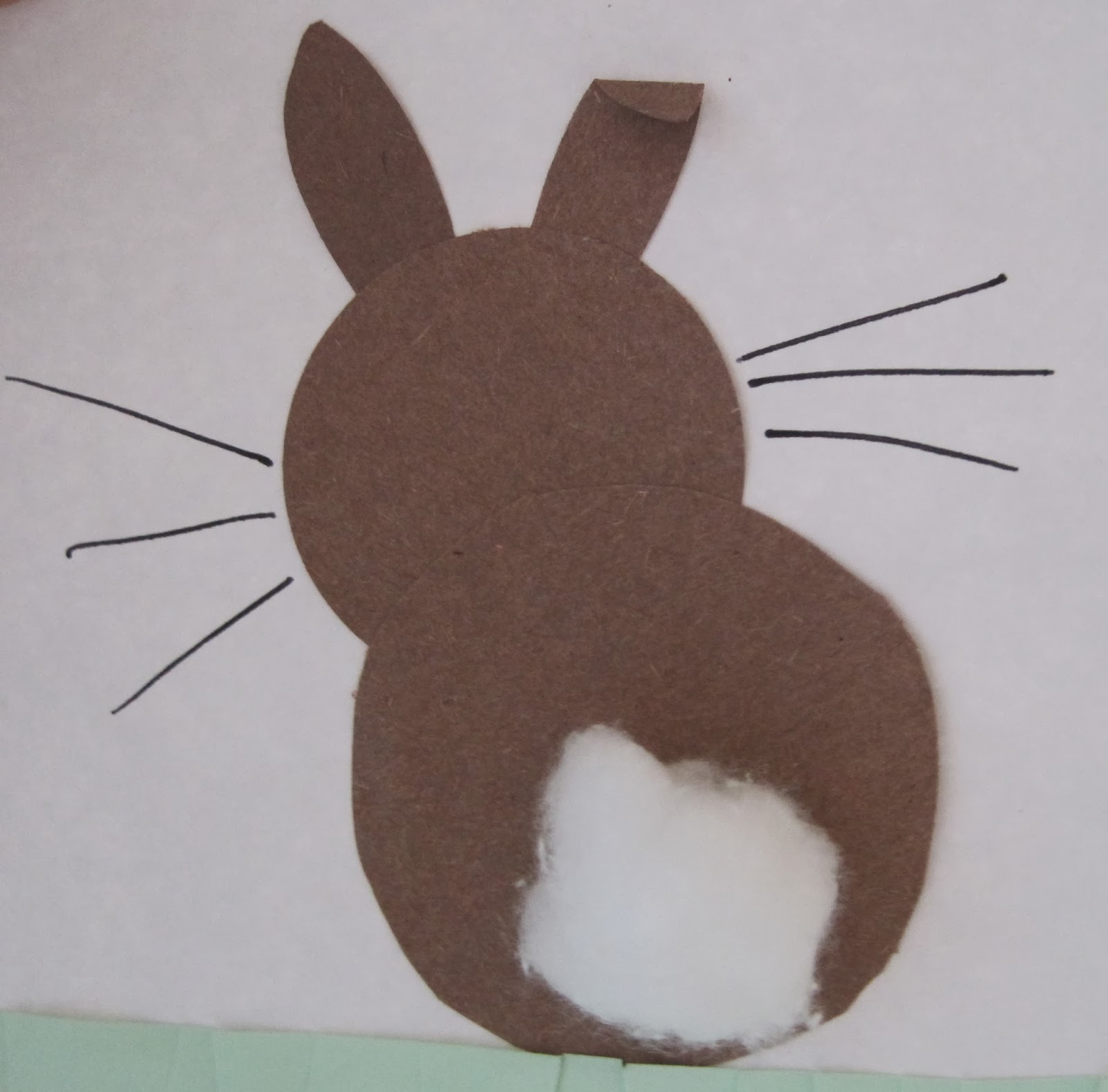 Another Bunny Paper Punch Art But This Time No Bottoms We Used An Egg Oval Shaped Hole And Then Added A Couple Of Cut Out Ear Shapes Little