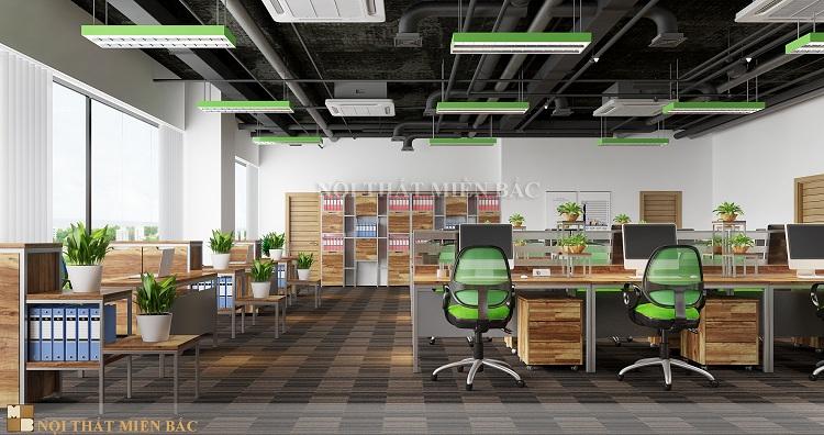 Thiết kế văn phòng cao cấp không gian nội thất khoa học
