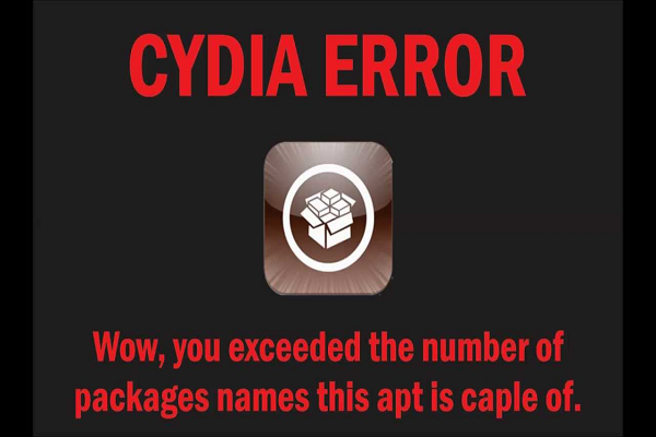 Cara Perbaiki Error Cydia Wow, You Exceeded The Number Of Package Names This APT Is Capable Of