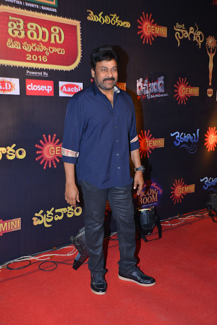 Megastar Chiranjeevi Photos at Gemini TV Awards 2016