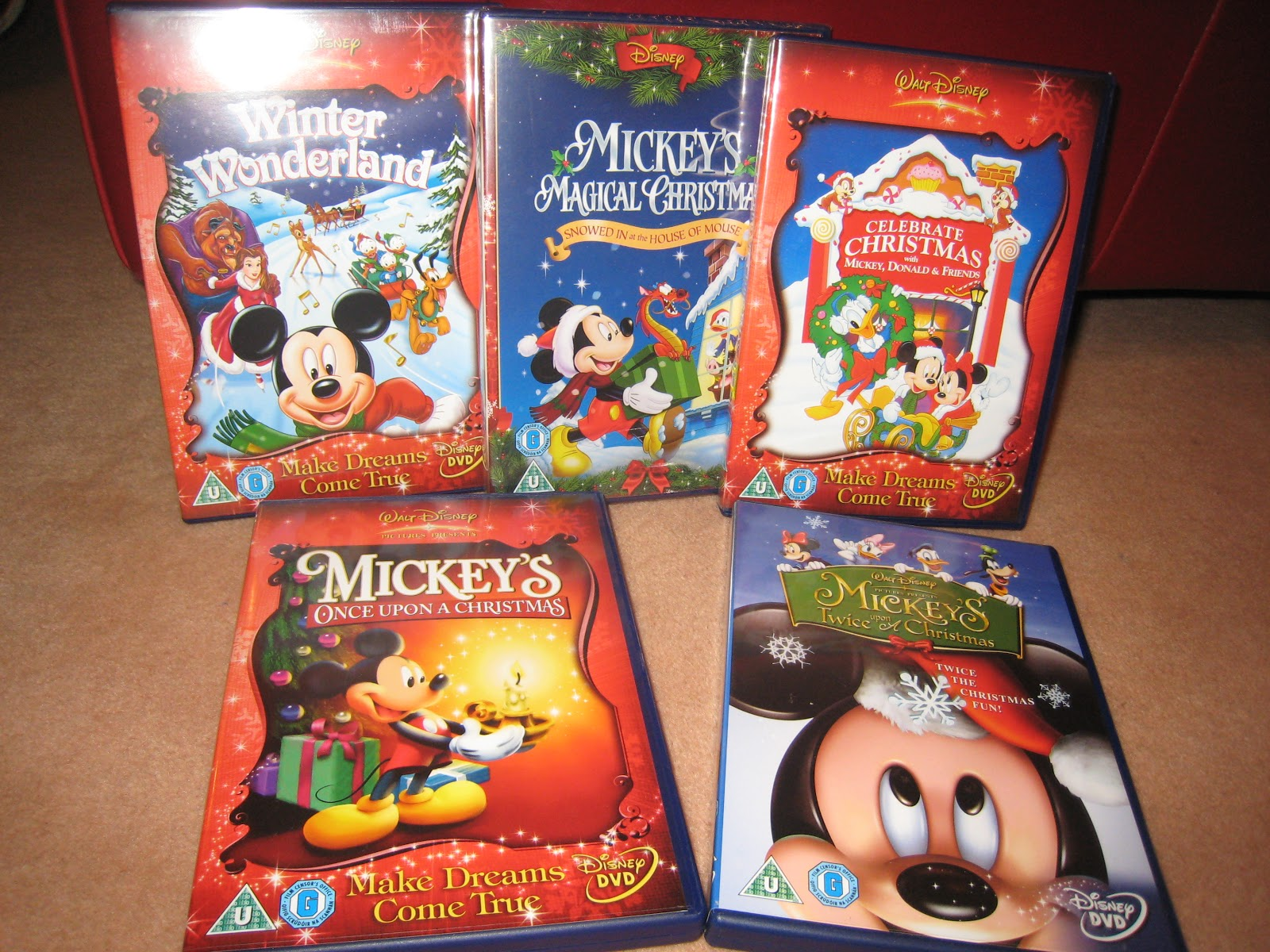 Upon Mouse Disney Dvd Twice Christmas Mickey