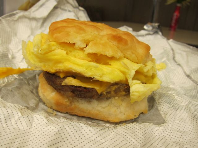 chick fil a sausage egg & cheese biscuit