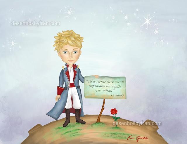 pequeno príncipe com a  rosa