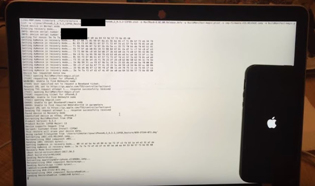 A hacker known as tihmstar posted a new video on YouTube demonstrating possibility of downgrading from iOS 9.3.5 to iOS 9.3.2 on iPhone 5S successfully by using a third-party tool called Prometheus if APTicket and SHSH blobs are saved.