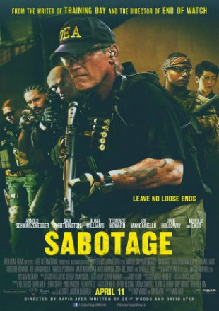 Sabotage 2014 BRRip 720p Dual Audio In Hindi English ESub