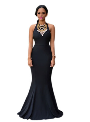 gaun malam elegan