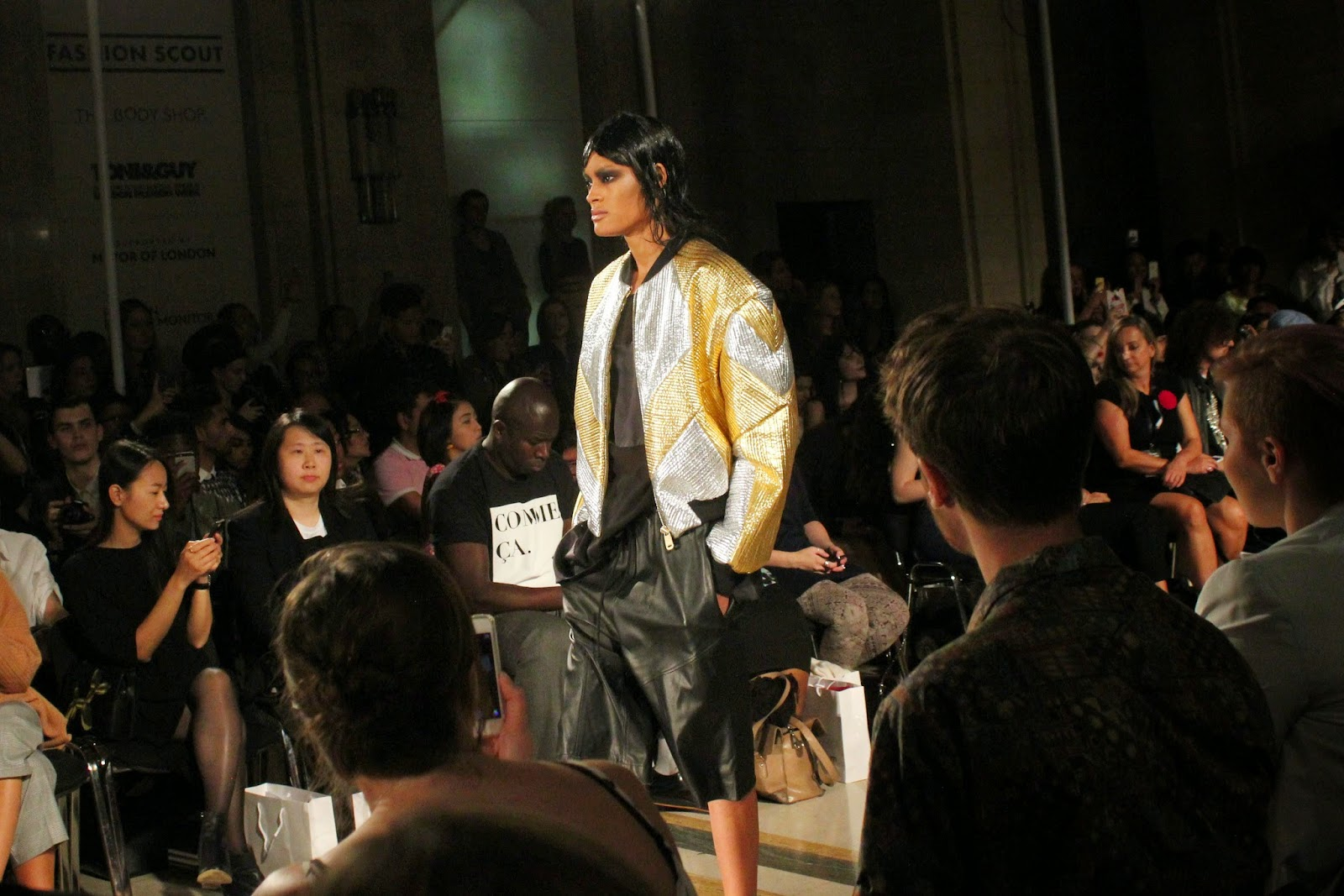 london-fashion-week-2014-lfw-spring-summer-2015-blogger-fashion-Dora-Abodi-catwalk-models-freemasons hall-fashion-scout-top-shorts-jacket-culottes
