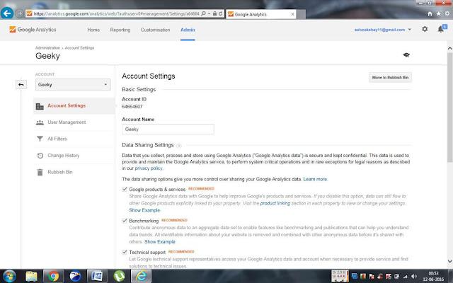 Google Analytics Code to your website
