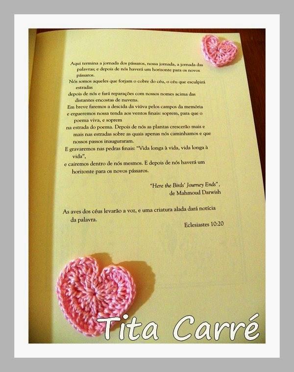 Corações em crochet neste dia 8 de Março com os marcos conquistados pela mulher na história