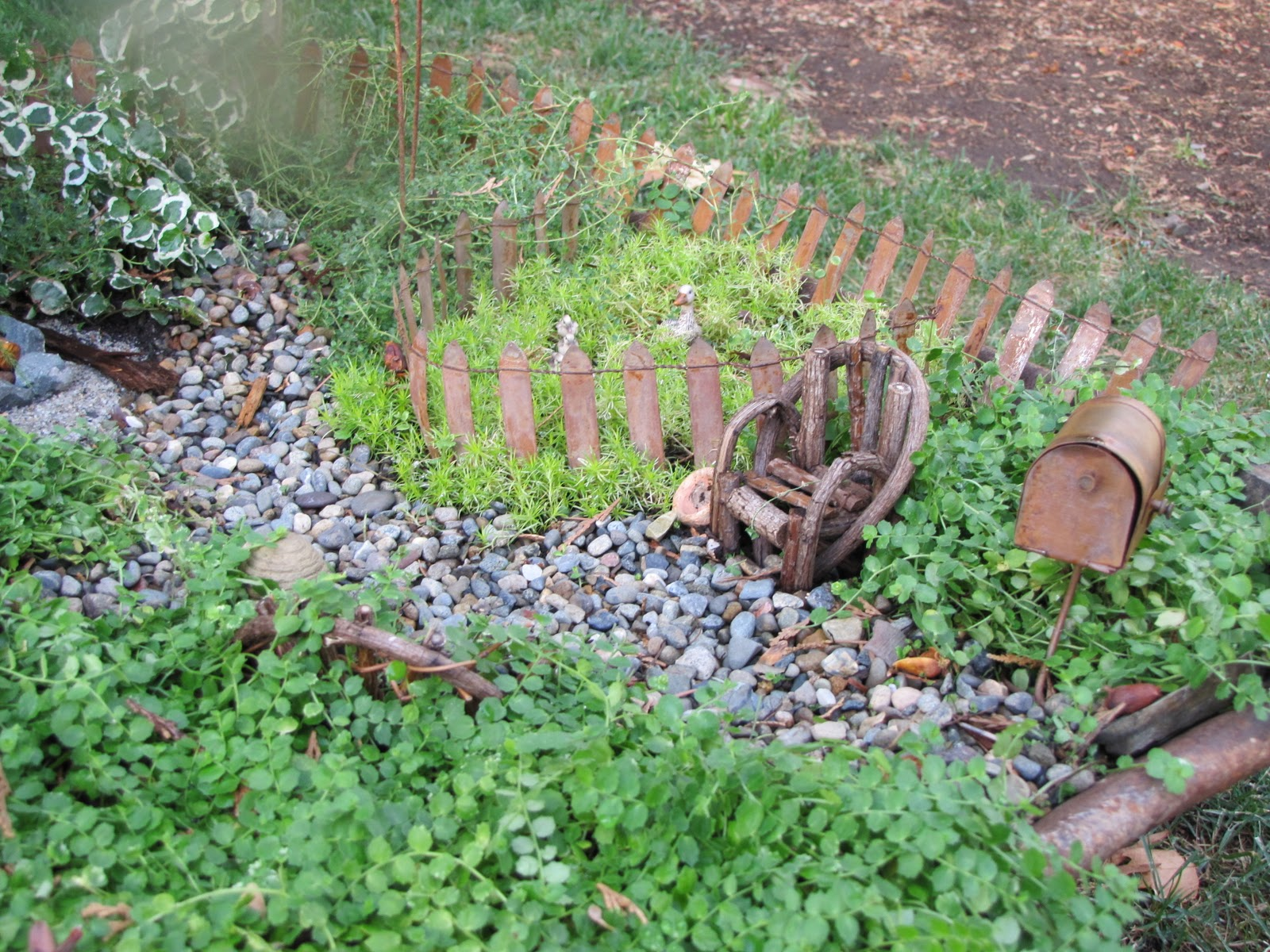 The antique gardener miniature tiny secret fairy gardens - Miniature plants for fairy gardens ...
