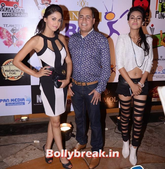 Krystle DSouza Ishu Datwani and Nia Sharma, Box Cricket League Success Party - Tv Babes as Guests