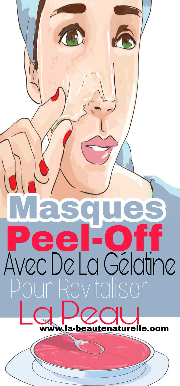 Masques peel-off avec de la gélatine pour revitaliser la peau