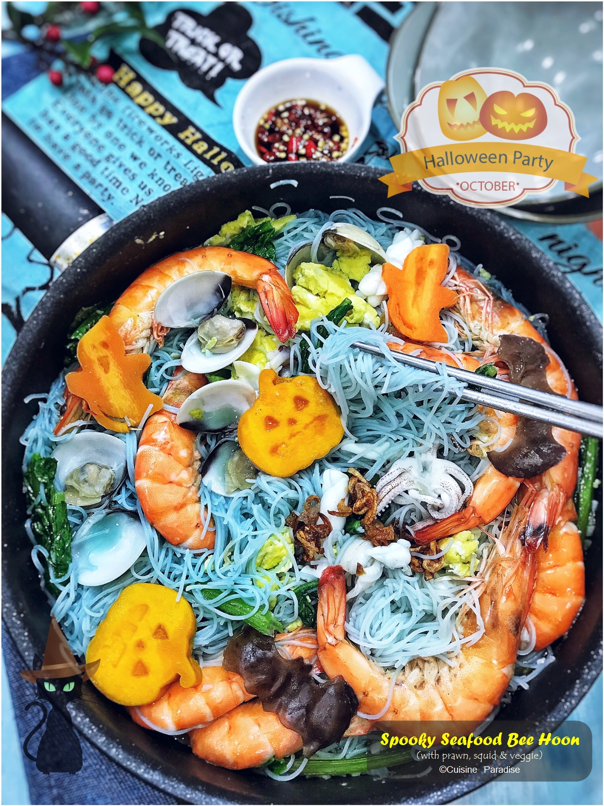 Cuisine paradise singapore food blog recipes reviews and travel this year our halloween themed recipes include creepy purple blue noodle and ghoulishly curry rice which can be done forumfinder Choice Image