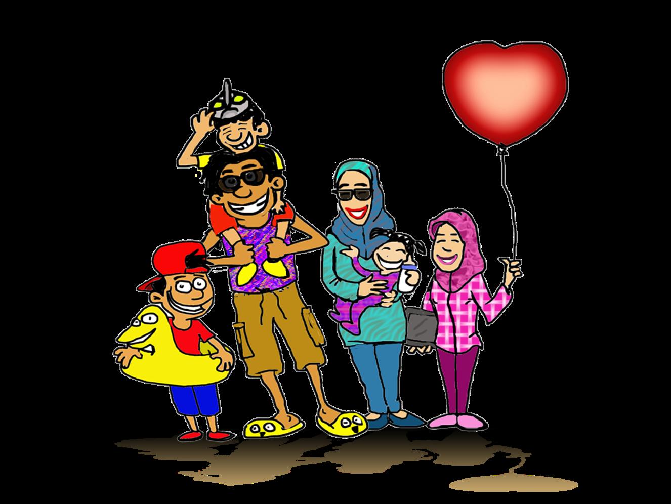 Gambar Kartun Lucu Family Pos DP BBM