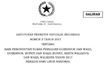 Surat Edaran Mengenai Hari Libur Nasional 15 Februari 2017