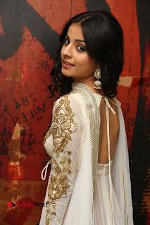 Telugu Actress Mahima Makwana Stills in White Desginer Dress at Venkatapuram Movie Logo Launch  0067.JPG
