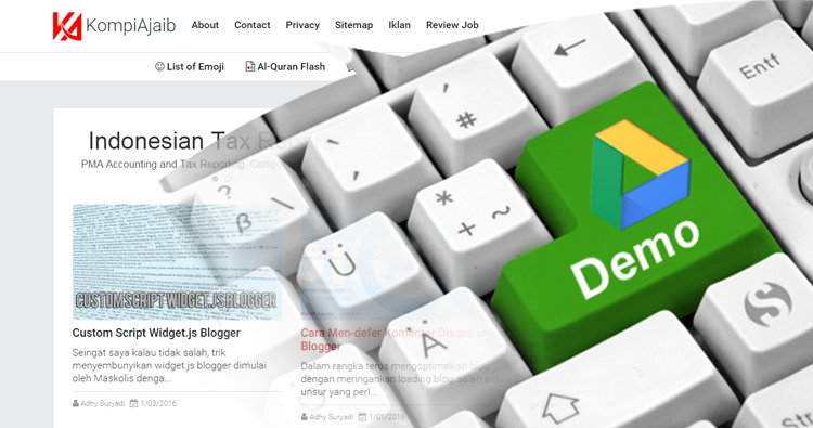 Membuat Demo Tutorial Blog Di Google Drive
