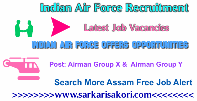 Indian Air Force Recruitment 2017 Airman Group X &  Airman Group Y
