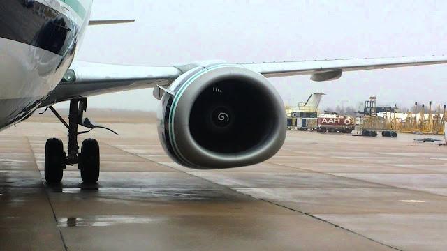 CFM56 tipi Boeing 737 motoru gördüğünüz üzere tam yuvarlak değildir.