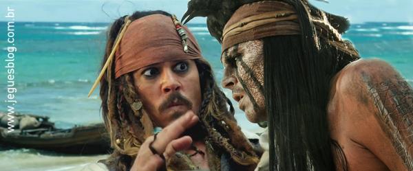 Capitão Jack Sparrow (Capitão Jack Sparrow) e Tonto (O Cavaleiro Solitário)