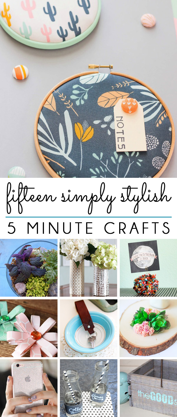 Five Minute Craft Projects