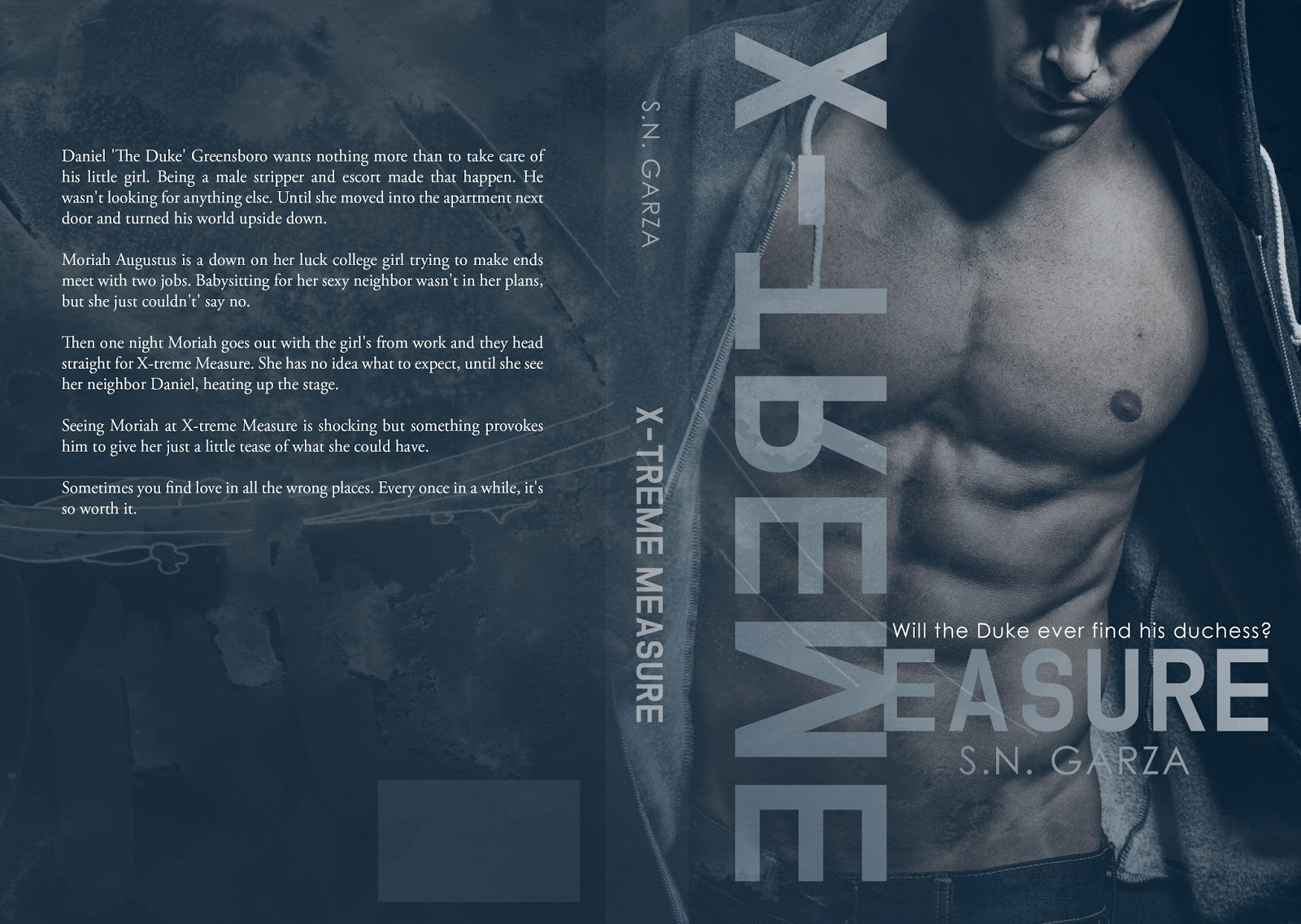 Cover Reveal: X-Treme Measure by S.N. Garza
