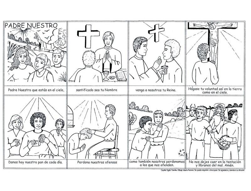 Catequesis Primera Unia N El Credo Para Colorear Espagnol: Los Sacramentos De La Iglesia Para Colorear