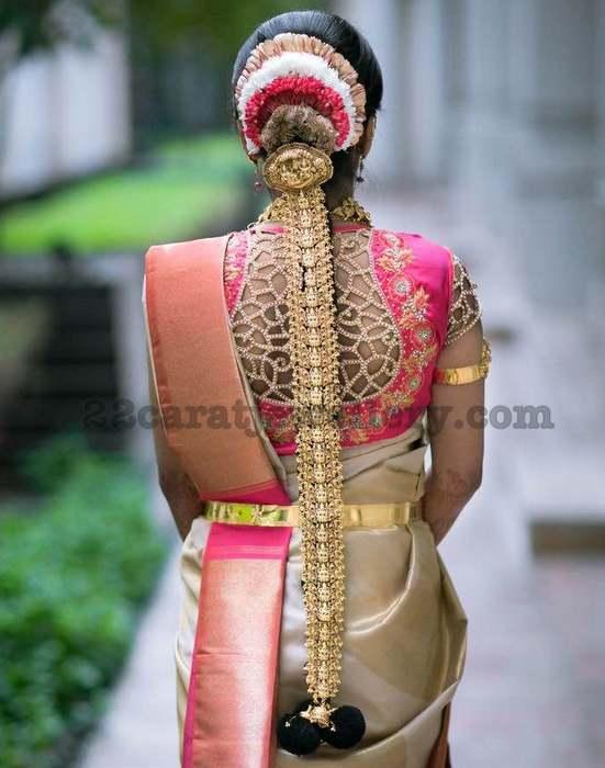 Bride in Antique Lakshmi Jada