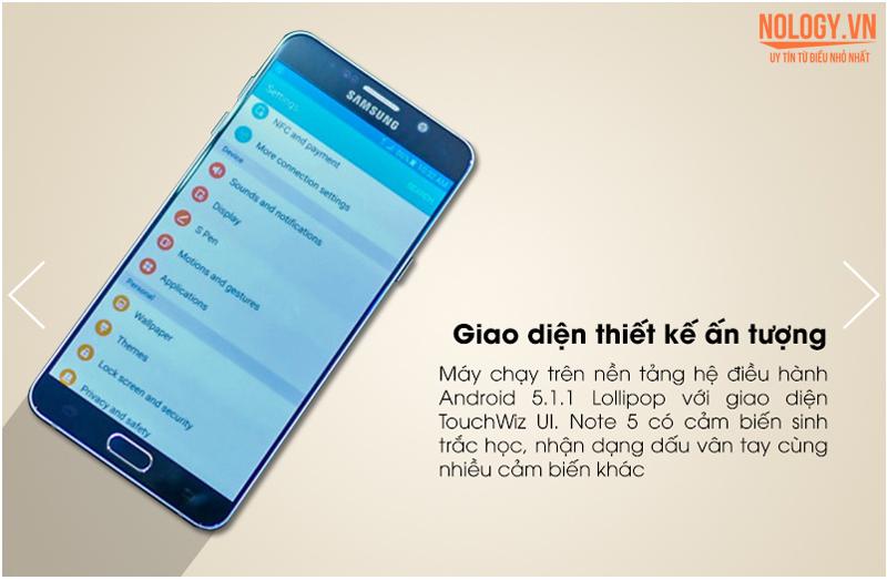 Samsung Galaxy note 5 cấu hình mạnh mẽ