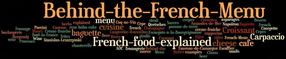 Behind the French Menu