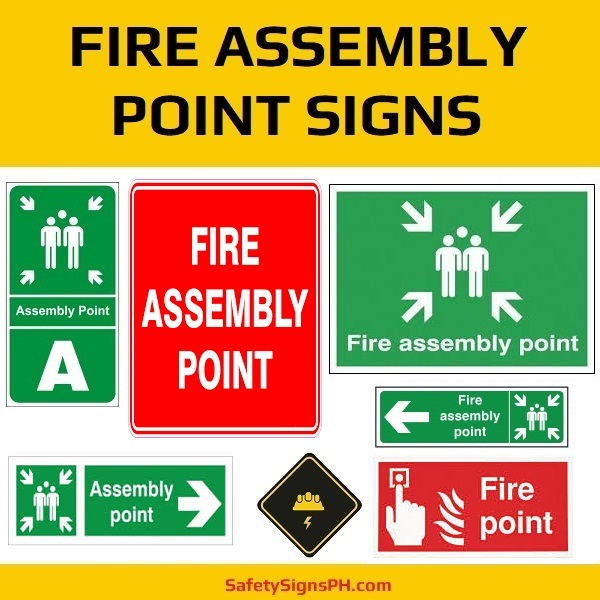 Fire Assembly Point Signs Philippines