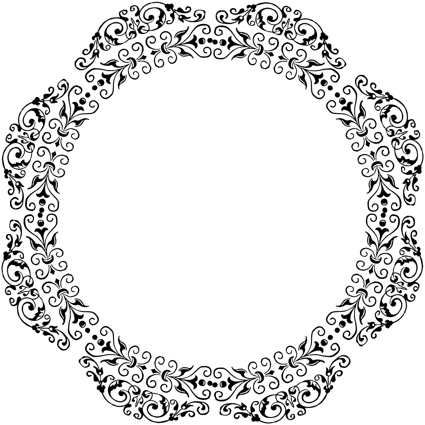 vintage clip art circle - photo #37