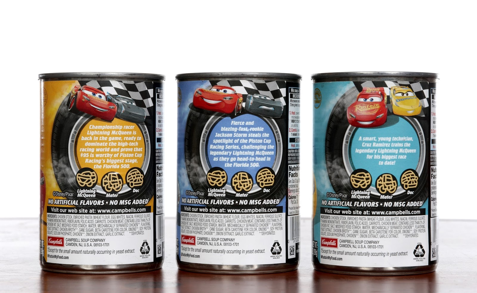 disney pixar Cars 3 campbell's soup
