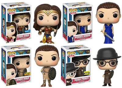 Wonder Woman Movie Retailer Exclusive Variant Pop! Figures by Funko