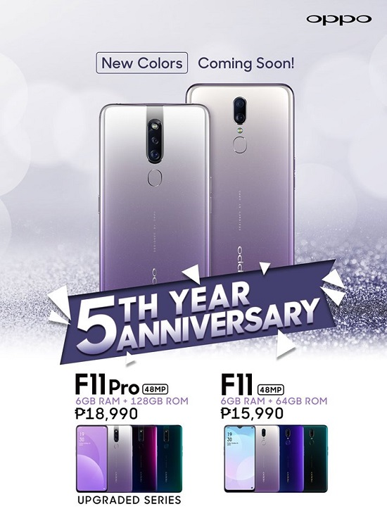 OPPO Upgrades F11 Pro with New Color Variant, Larger 128GB Storage