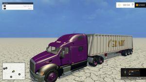 Peterbilt Roadtrain truck + trailer