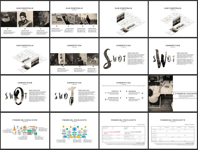 Multi Purpose Best and Free Powerpoint 4x3 Template [CODE] Slide 49-64