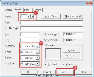 Cara Membuat Status Bar di VB 6.0