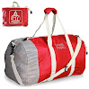 Foldable Waterproof Travel Luggage Duffle Bag Lightweight for Sports, Gym, Vacation and Travel Duffel Bags (60L, Red)