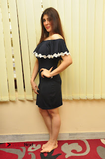 Actress Aditi Singh Pictures in Black Short Dress at tur Talkies 2 Movie Opening  0167